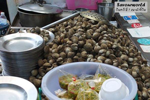 หอยแครงลวกเจ๊ภา หอยใหญ่ สด สะอาด น้ำจิ้มอร้อยอร่อย ถูกใจคนรักหอยเต็ม ๆ กินอะไรดี เมนูอาหาร ร้านอาหารอร่อย Nightlife รีวิวคาเฟ่ ร้านอาหาร-คาเฟ่ ที่กิน-ที่พัก แนะนำร้านอาหาร อาหาร-สุขภาพ savourworld.com หอยแครงลวกเจ๊ภา