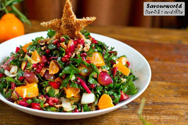 สลัดคริสต์มาสที่ไม่ได้ทำกินแค่ช่วงคริสต์มาสเท่านั้น กินอะไรดี เมนูอาหาร ร้านอาหารอร่อย Nightlife รีวิวคาเฟ่ ร้านอาหาร-คาเฟ่ ที่กิน-ที่พัก แนะนำร้านอาหาร อาหาร-สุขภาพ savourworld.com สลัดคริสต์มาส