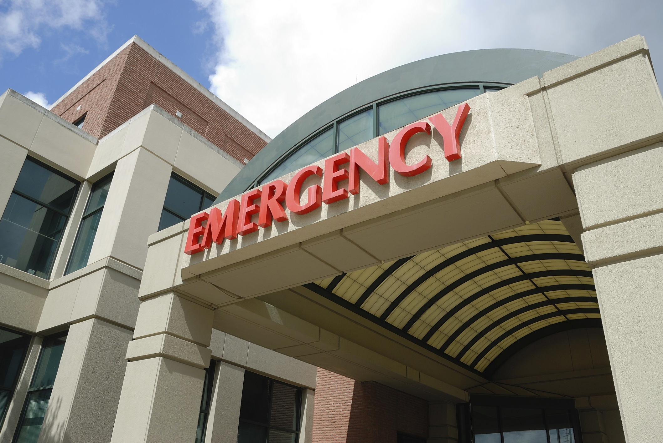 Emergency entrance at a hospital