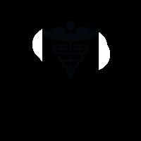 Medical symbol on laptop