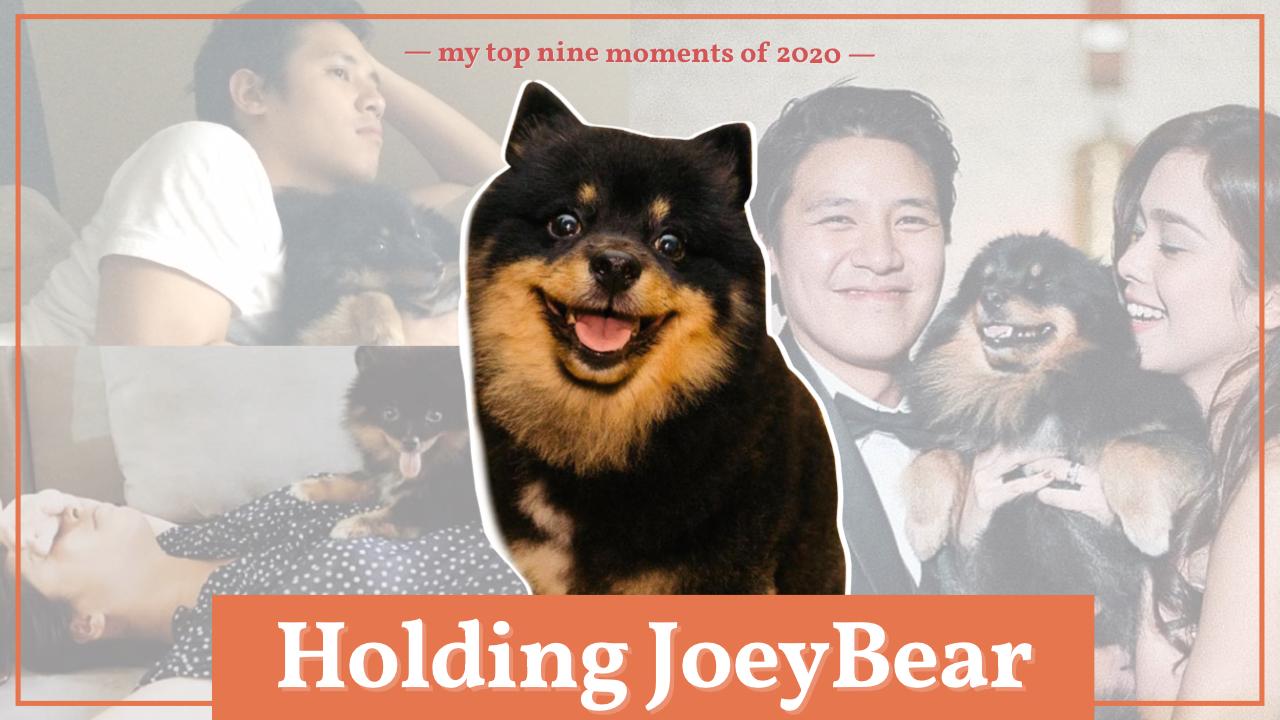 Holding Joey Bear