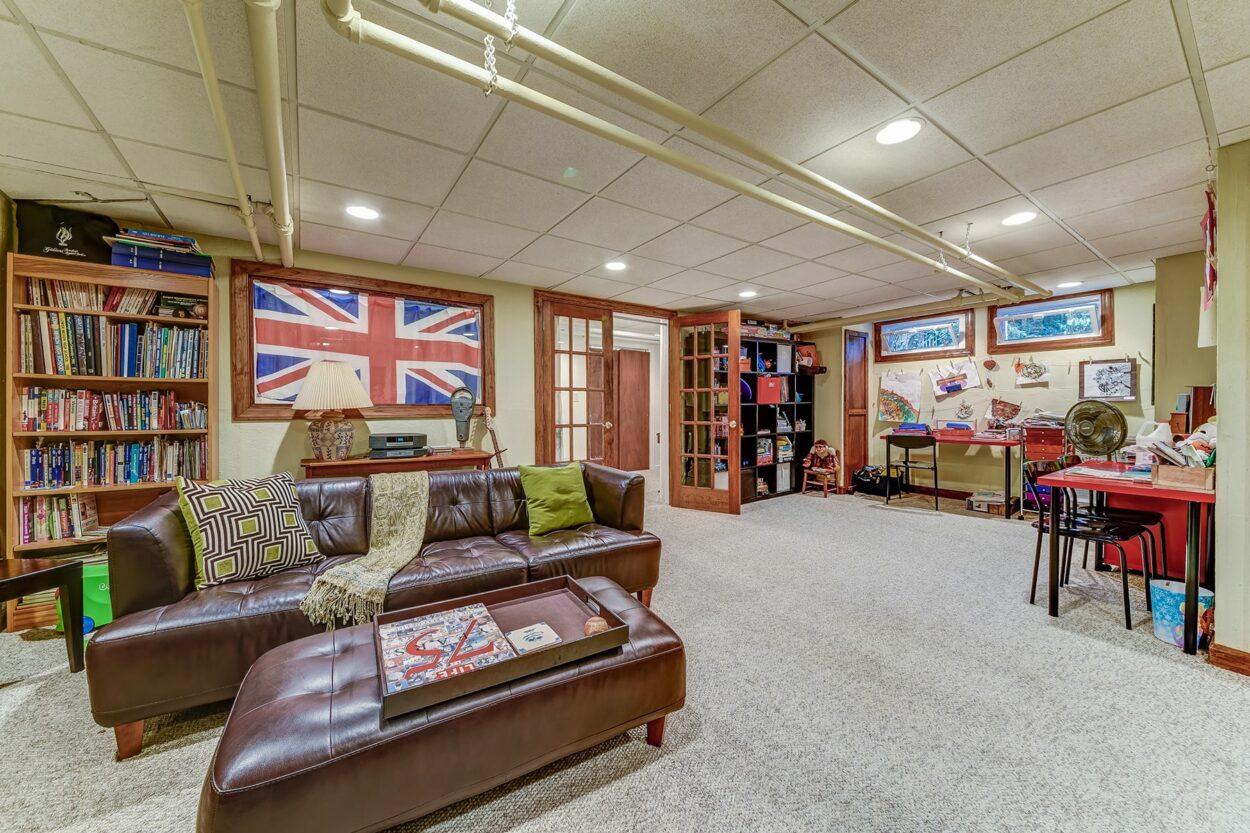 34 Oakland Road Maplewood NJ finished basement