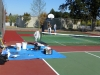 Painting the play boxes and kitchens