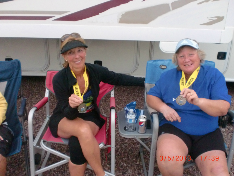 Cookie Drake and Caryn McComas with their Bronze Medal