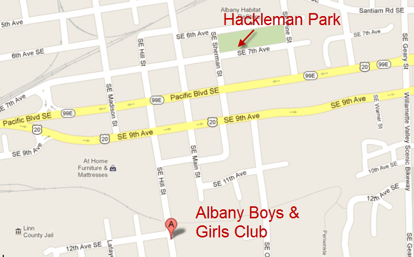 Hackleman Park - Boys & Girls Club Map