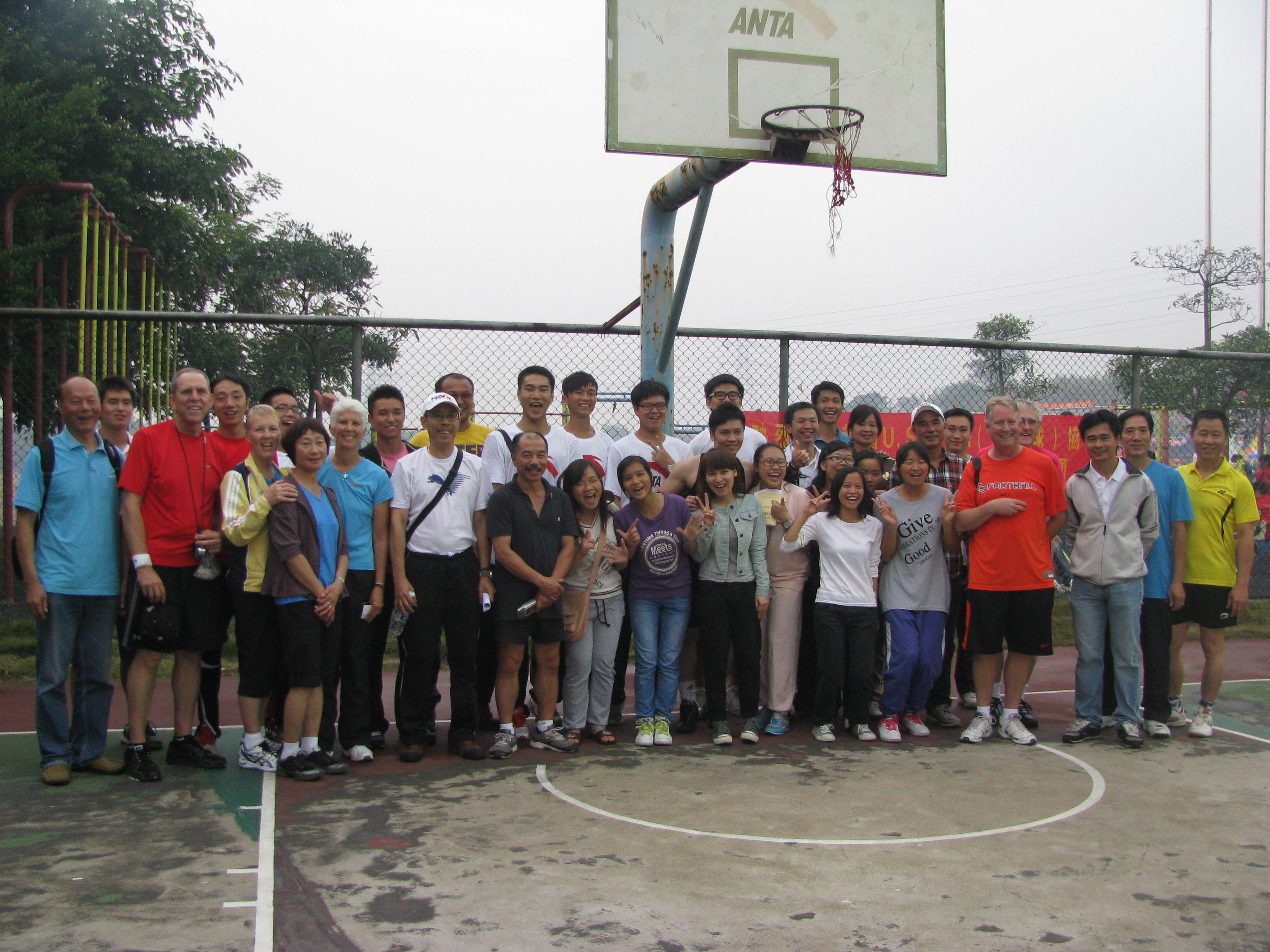 Our group with students from Guangdong Industrial Technical College