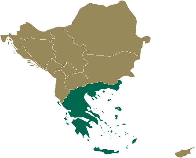 Greece and Balkans map