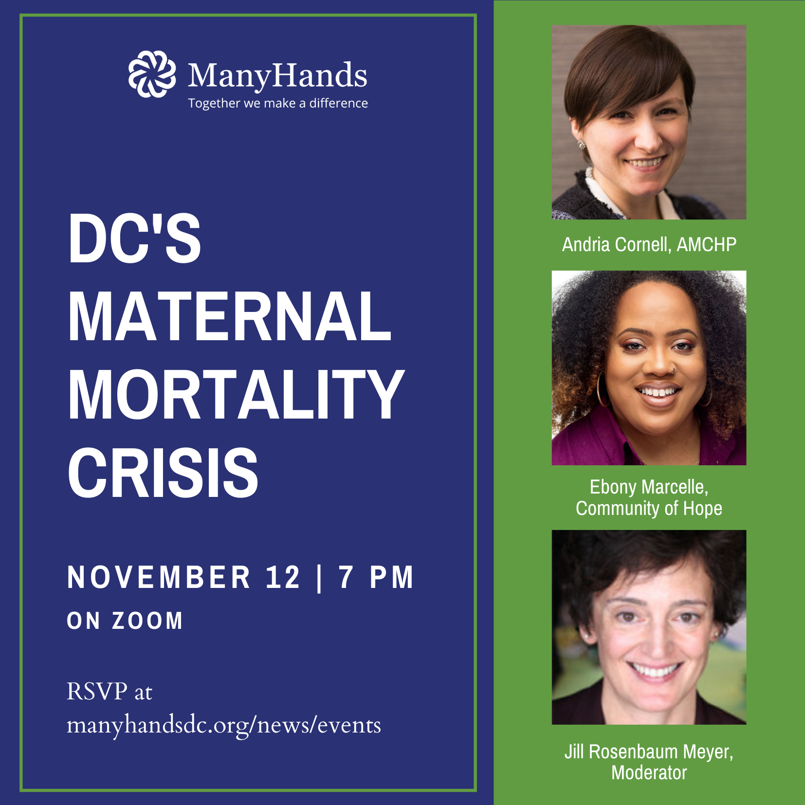 Invitation to Nov 12 maternal mortality panel
