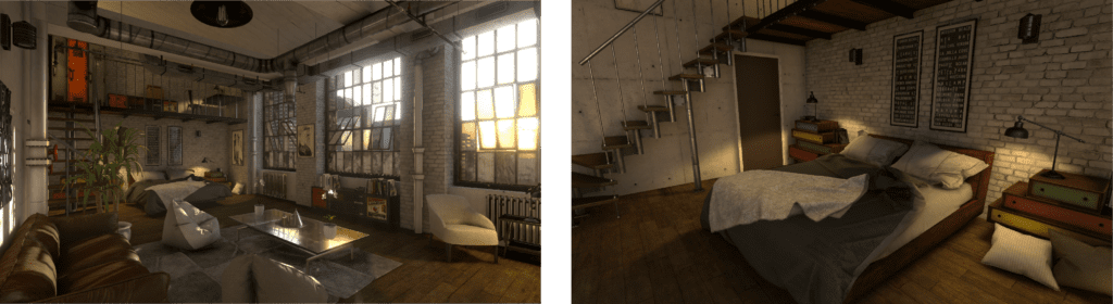 3D model of a NYC loft powered by Unity. It was displayed in Station IX at AIA 2019
