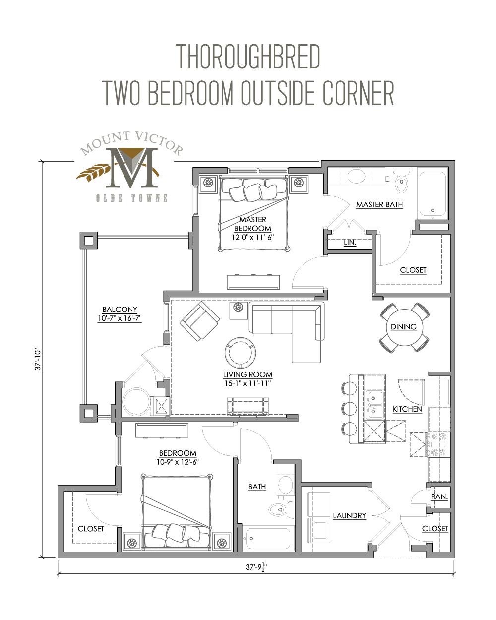 two bedroom outside corner