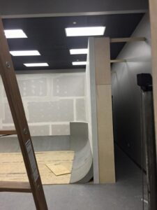 False wall wooden frame
