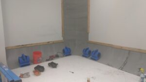 cyclorama wall under construction