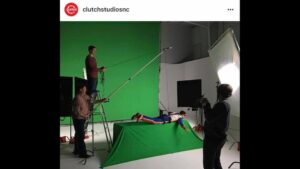 Green screen for movie set