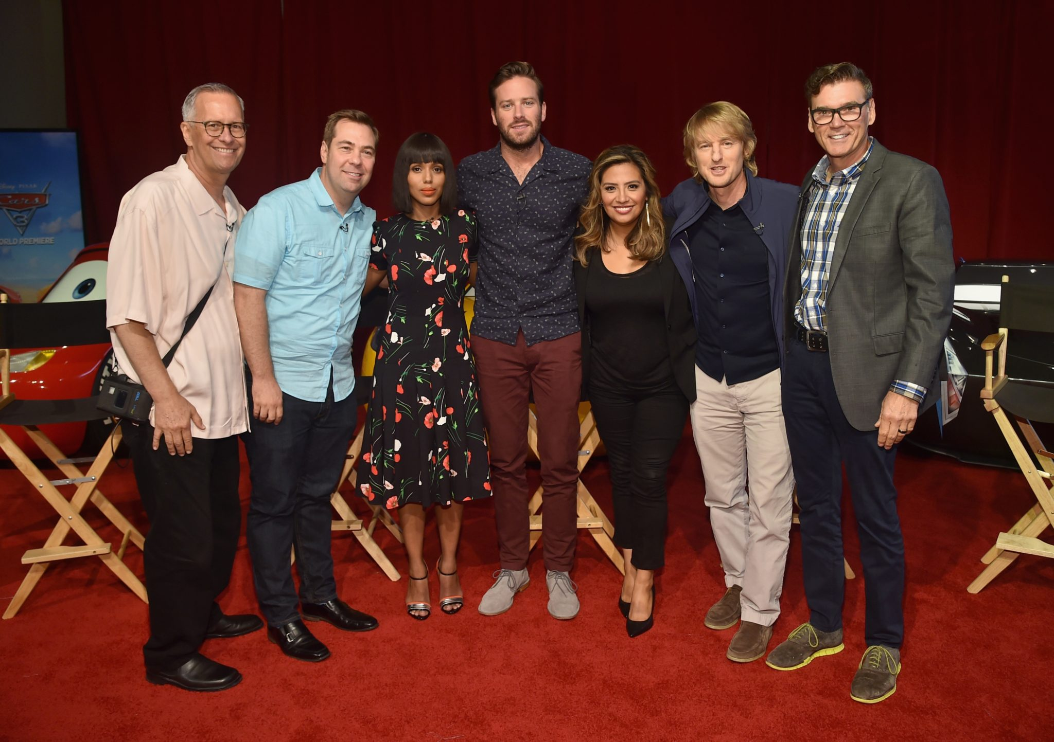 Kevin Reher, Brian Fee, Kerry Washington, Arnie Hammer, Cristela Alonzo, Owen Wilson, Ray Evernham  - Pixar's Cars 3 Press Conference