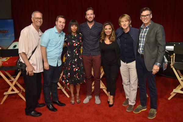 Kevin Reher, Brian Fee, Kerry Washington, Arnie Hammer, Cristela Alonzo, Owen Wilson, Ray Evernham  - Pixar's Cars 3 Press Conference