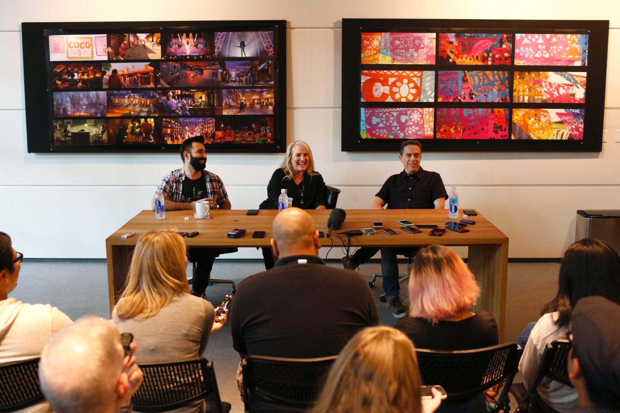 Adrian Molina, Darla K Anderson, Lee Unkrich - Disney Pixar Coco Press Conference