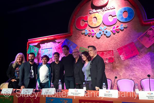 Benjamin Bratt, Anthony Gonzalez, Gael Barcia Bernal, Alanna Ubach, Adrian Molina, Darla K Anderson, Lee Unkrich - Disney Pixar Coco Press Conference