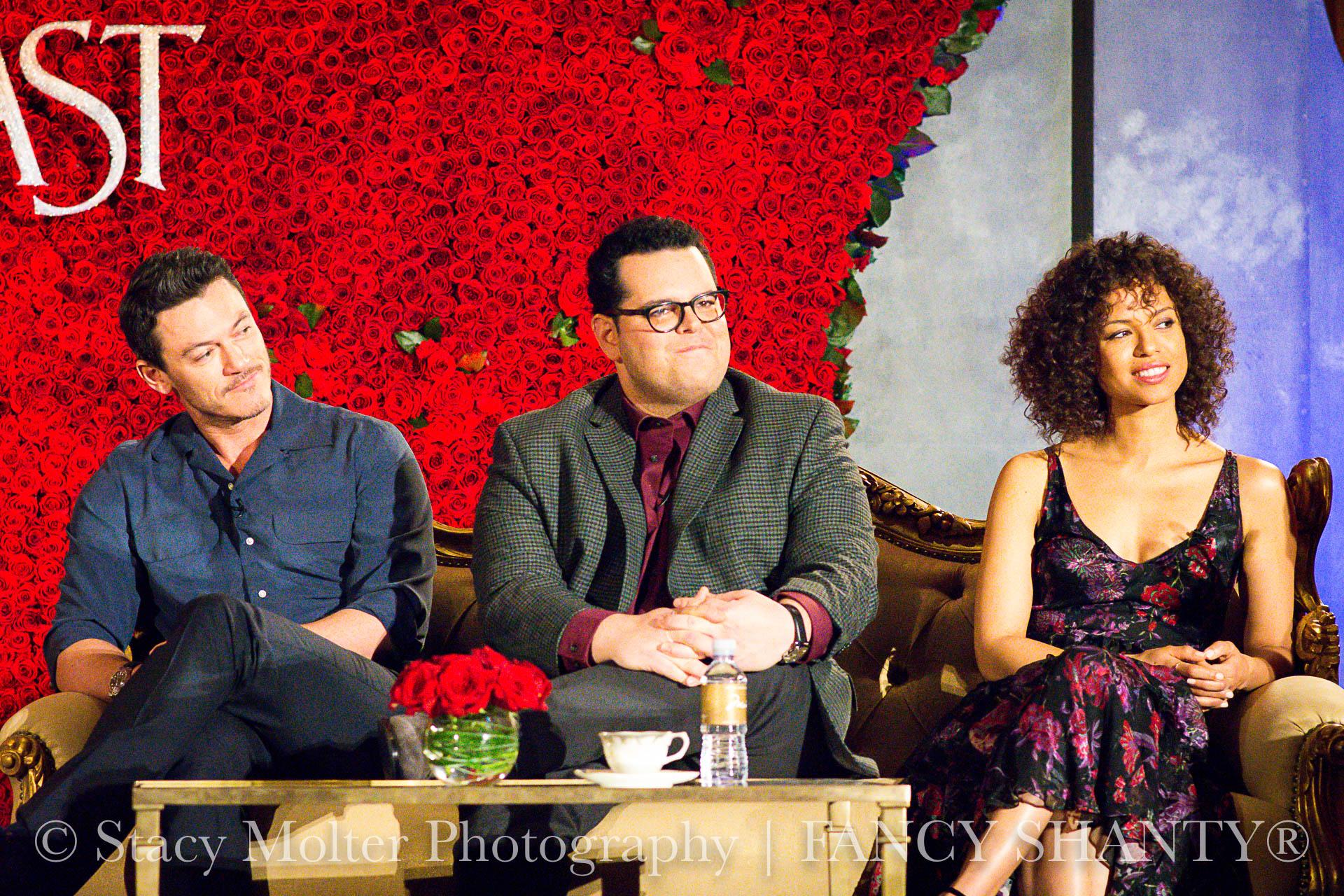 Luke Evans, Josh Gad,  Gugu Mbatha-Raw - Disney's Beauty and the Beast Press Conference