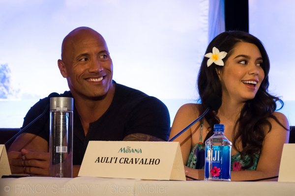 Dwayne Johnson, Auli'i Cravalho - Disney's Moana Press Conference