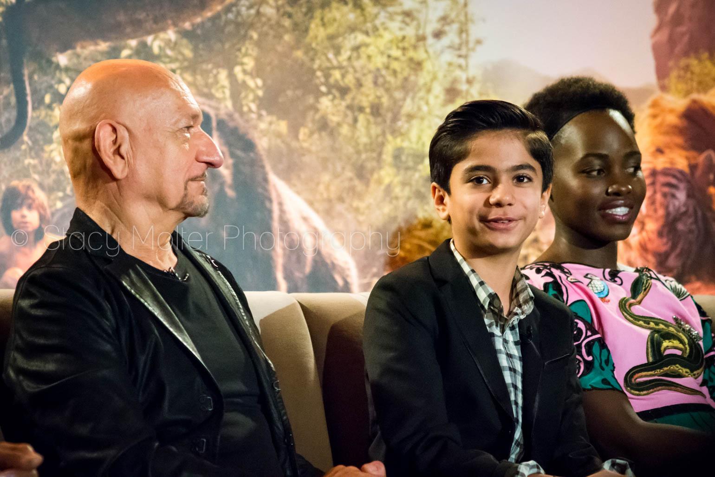 Sir Ben Kingsley, Neel Sethi, Lupita Nyong'o - Disney's The Jungle Book Press Conference