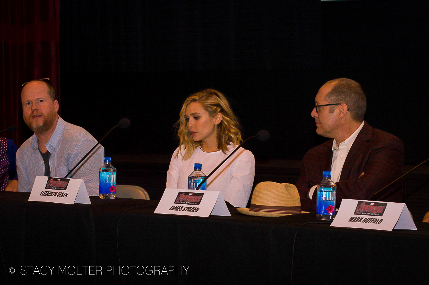 Joss Whedon, Elizabeth Olsen, James Spader - Avengers Age of Ultron Press Conference Junket