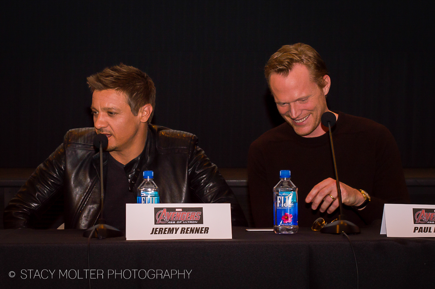 Jeremy Renner & Paul Bettany - Avengers Age of Ultron Press Conference Junket