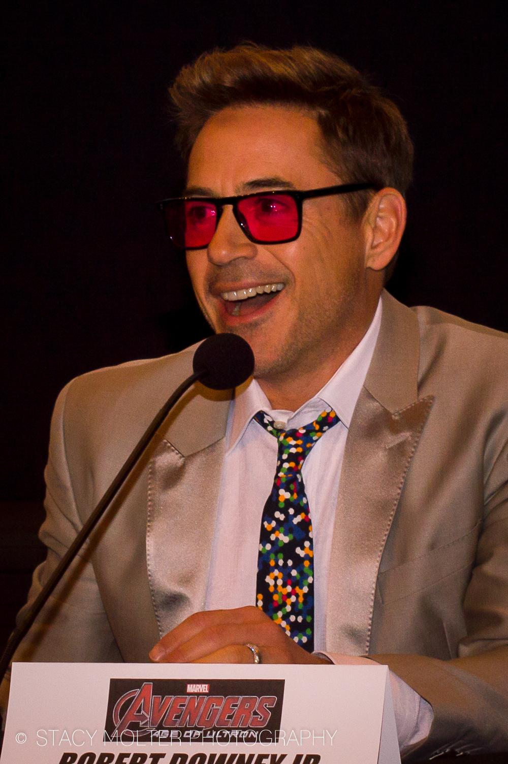 Robert Downey Jr. - Avengers Age of Ultron Press Conference Junket