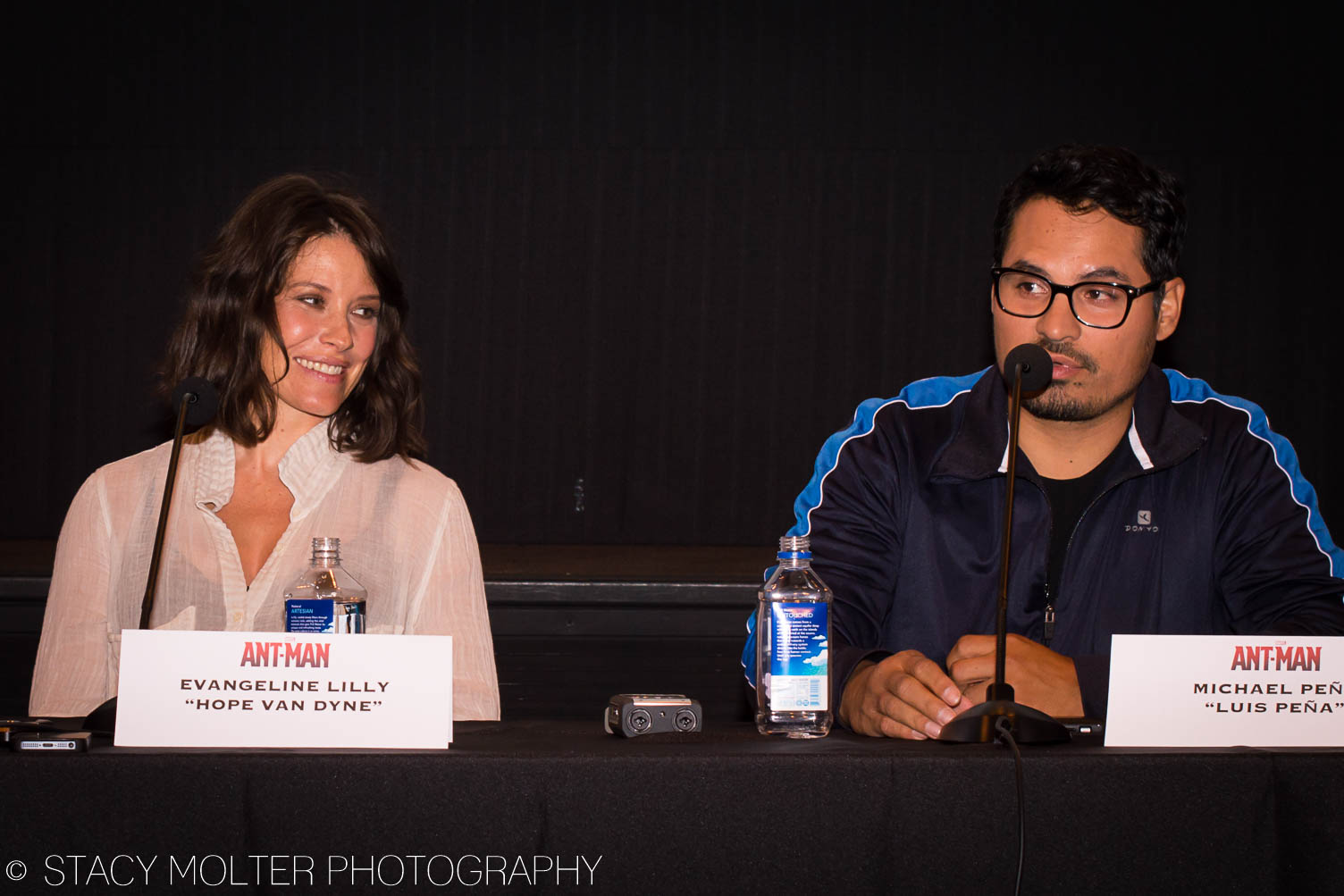 Evangeline Lilly, Michael Pena - Ant-Man Press Conference
