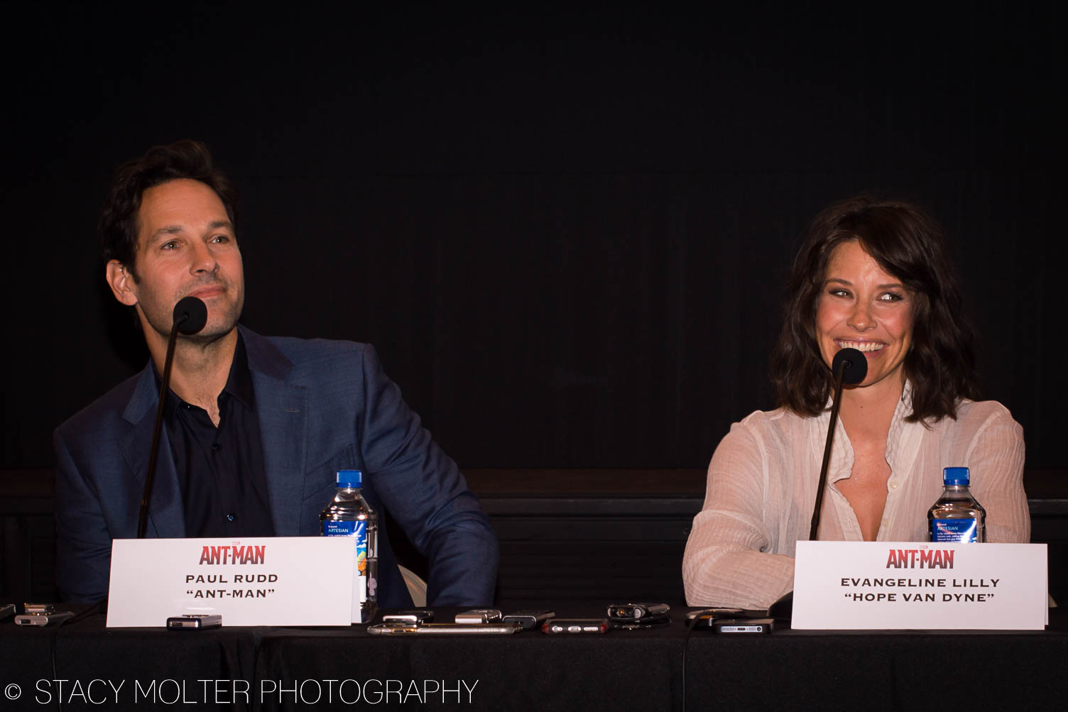 Paul Rudd, Evangeline Lilly - Ant-Man Press Conference