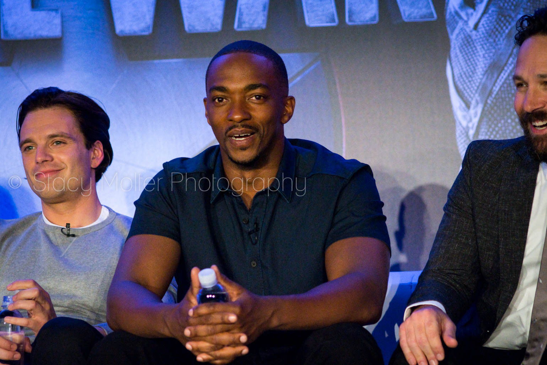 Sebastian Stan, Anthony Mackie, Paul Rudd - Captain America: Civil War Press Conference