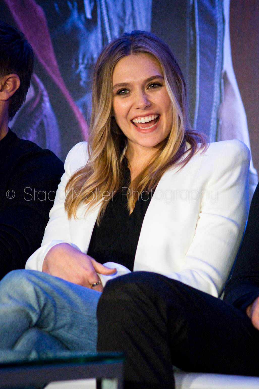 Elizabeth Olsen - Captain America: Civil War Press Conference