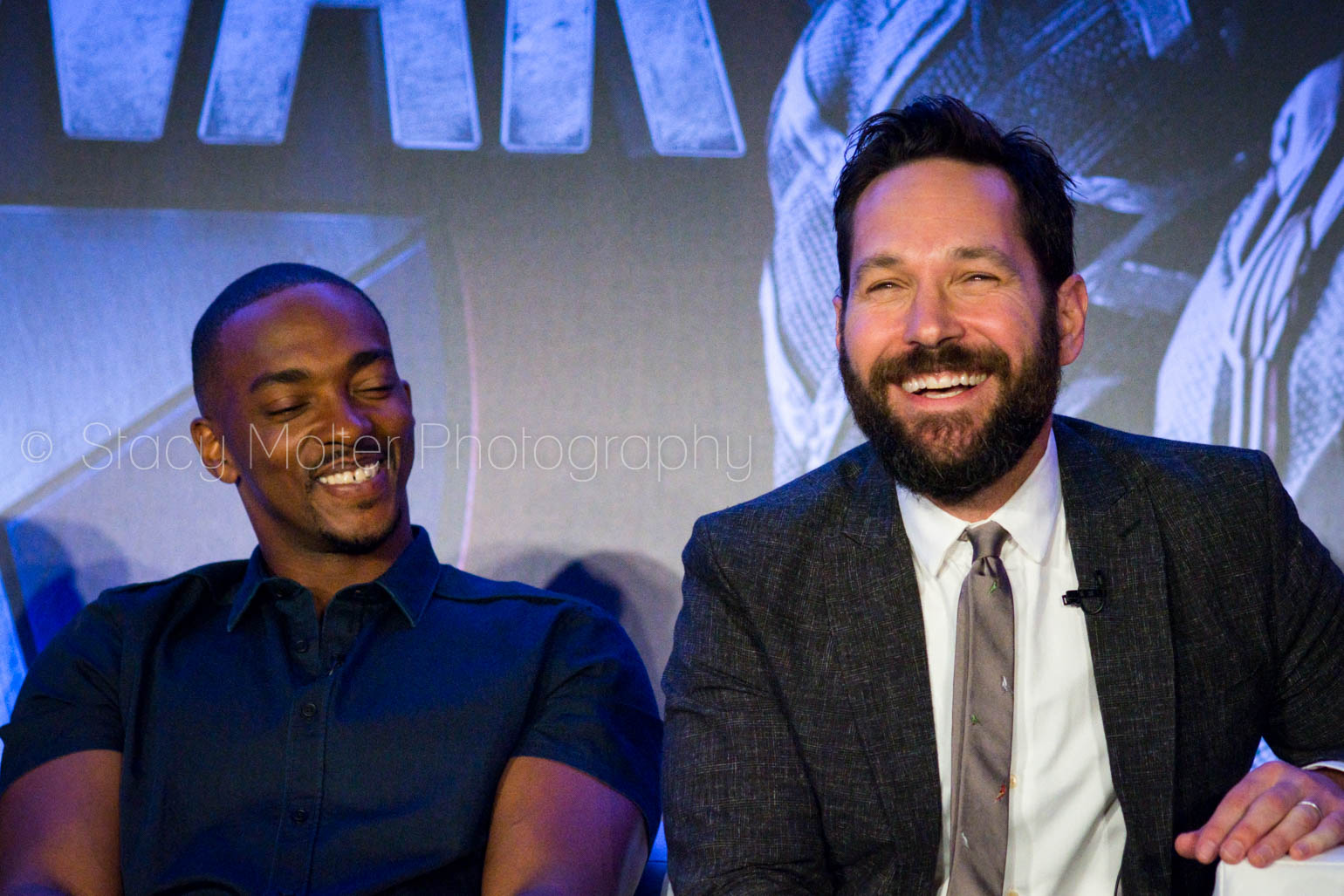 Anthony Mackie & Paul Rudd - Captain America: Civil War Press Conference