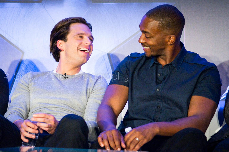 Sebastian Stan & Anthony Mackie - Captain America: Civil War Press Conference
