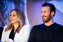Elizabeth Olsen & Chris Evans - Captain America: Civil War Press Conference