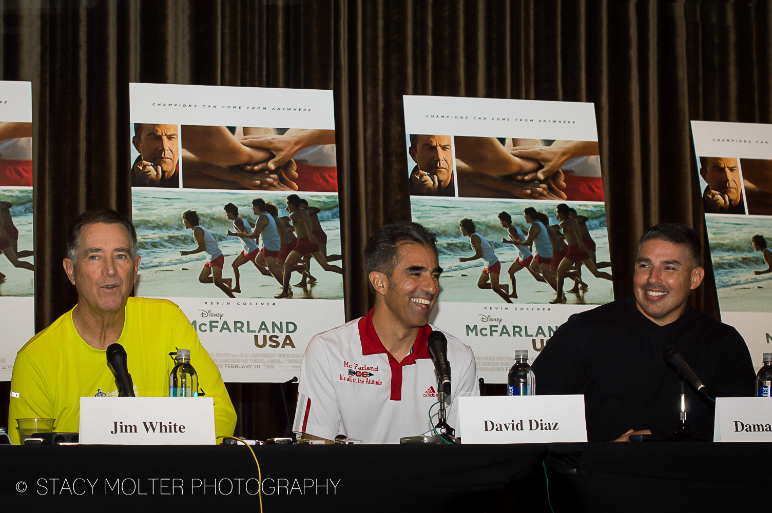 Jim White, David Diaz, Damacio Diaz - McFarland USA Press Conference Junket