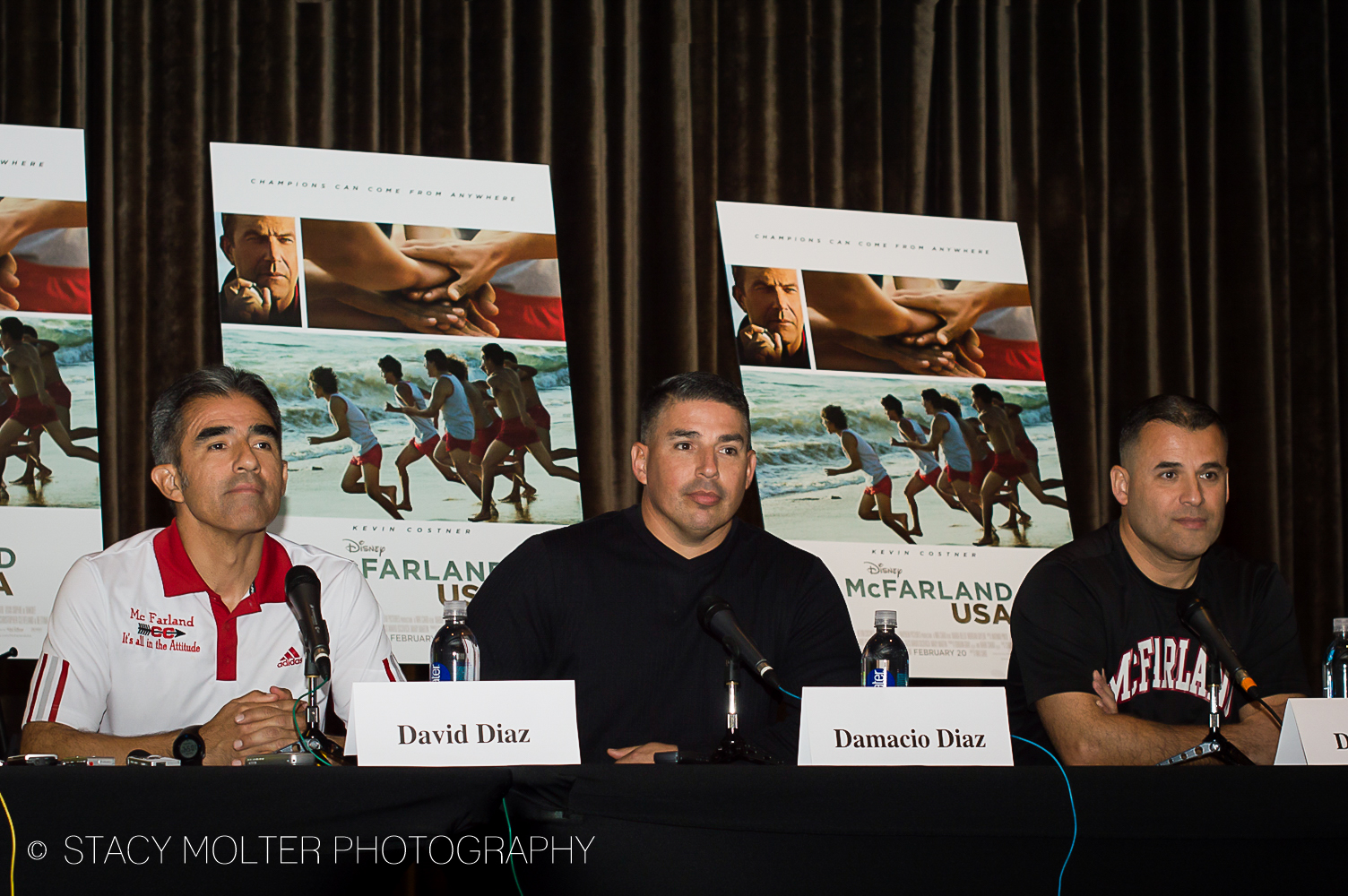 David Diaz, Damacio Diaz, Danny Diaz - McFarland USA Press Conference Junket