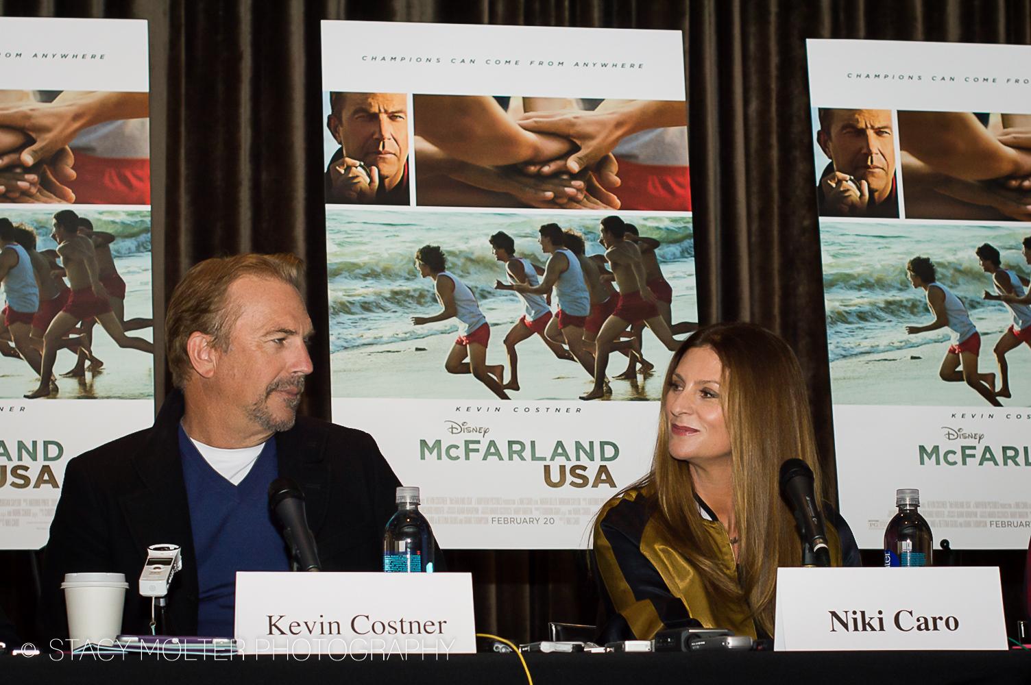 Kevin Costner & Niki Caro - McFarland USA Press Conference Junket