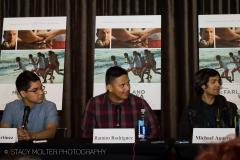 Rafael Martinez, Ramiro Rodriguez, Sergio Avelar - McFarland USA Press Conference Junket