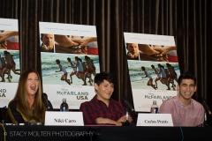 Niki Caro, Carlos Pratts, Hector Duran - McFarland USA Press Conference Junket