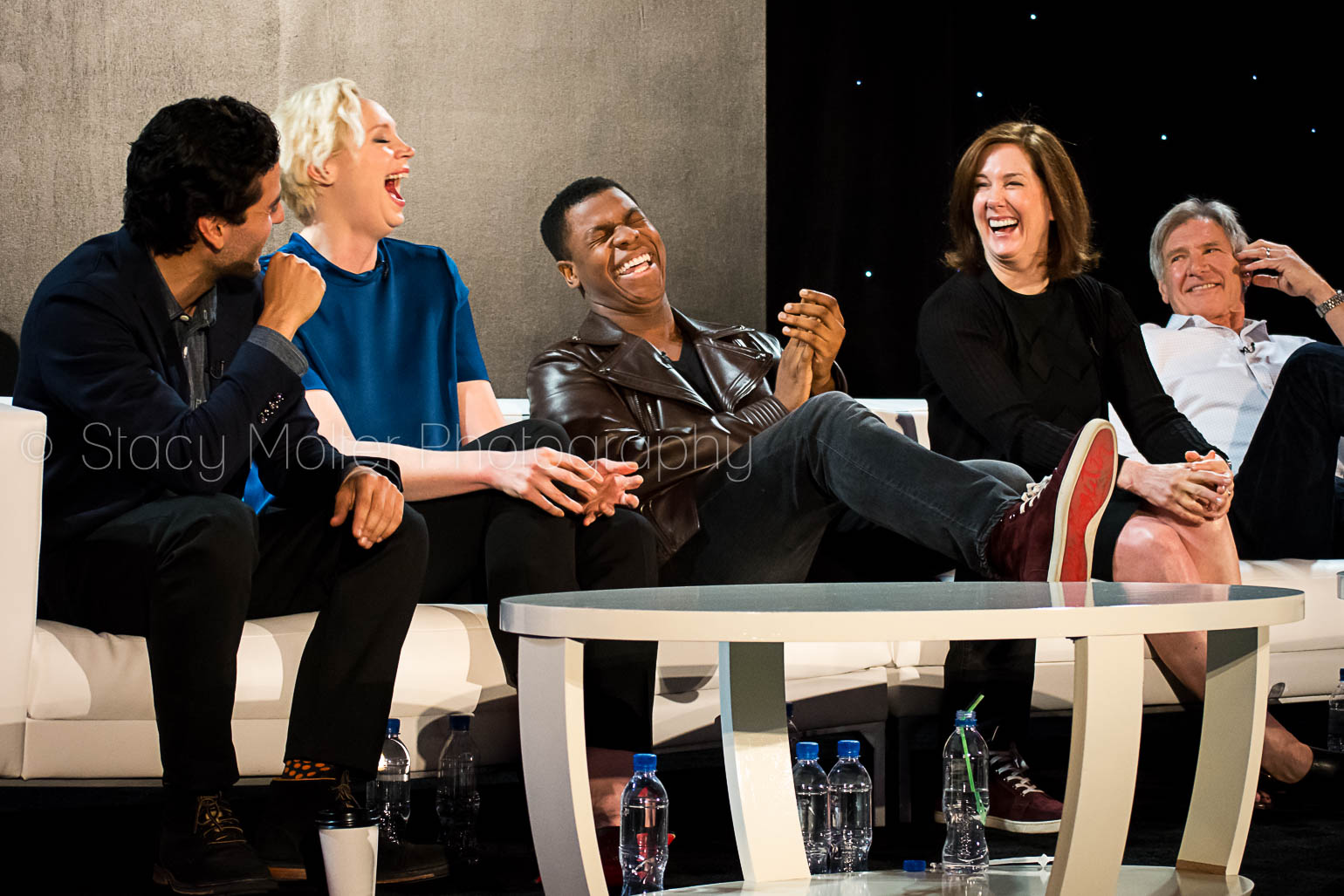 Harrison Ford, John Boyega, Oscar Isaac, Gwendoline Christie, Kathleen Kennedy - Star Wars The Force Awakens Press Conference