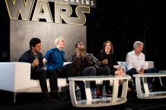 Harrison Ford, John Boyega, Oscar Isaac, Gwendoline Christie, Kathleen Kennedy - Star Wars The Force Awakens Press Conference