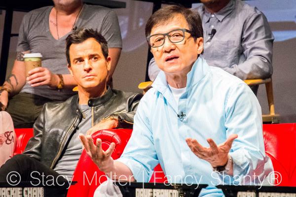 Jackie Chan, Dave Franco, Justin Theroux, Olivia Munn, Michael Pena, Kumail Nanjiani, Zach Woods, Fred Armisen, Abbi Jacobson, Dan Lin, Chris McKay, Charlie Bean - The Lego Ninjago Movie Press Conference