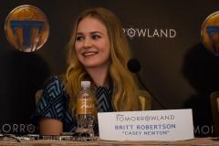 Britt Robertson - Tomorrowland Press Conference