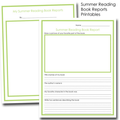 Summer Reading Book Report Free Printables