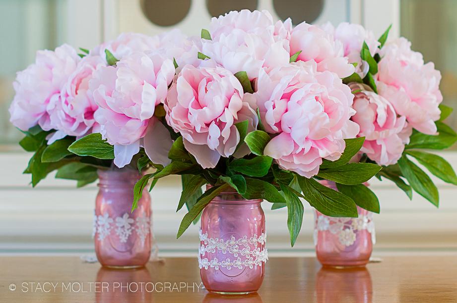 Mother's Day Color DIY Mason Jar Flower Bouquets #12monthsofmartha