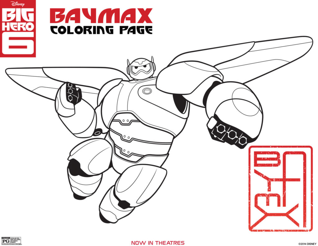 More Free Printable Big Hero 6 Activity Sheets & Coloring Pages - English & Spanish