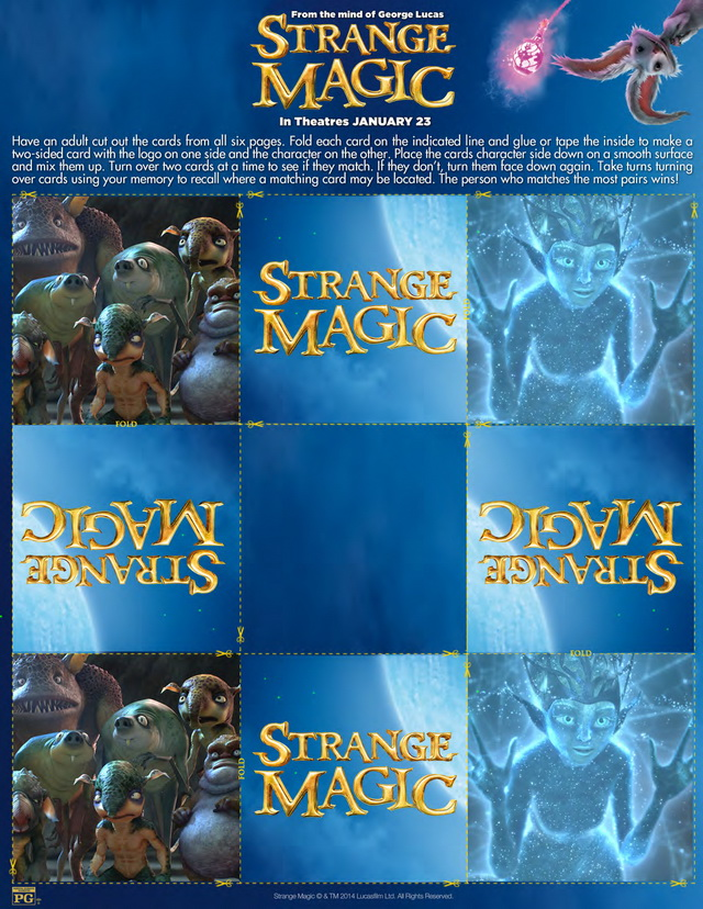 Strange Magic Activity Sheets #StrangeMagicEvent