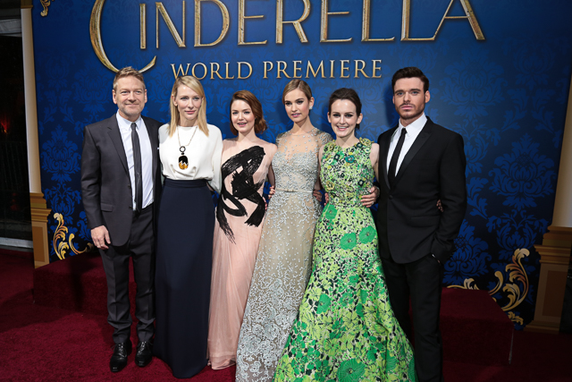 Kenneth Branagh, Cate Blanchett, Holliday Grainger, Lily James, Sophie McShera