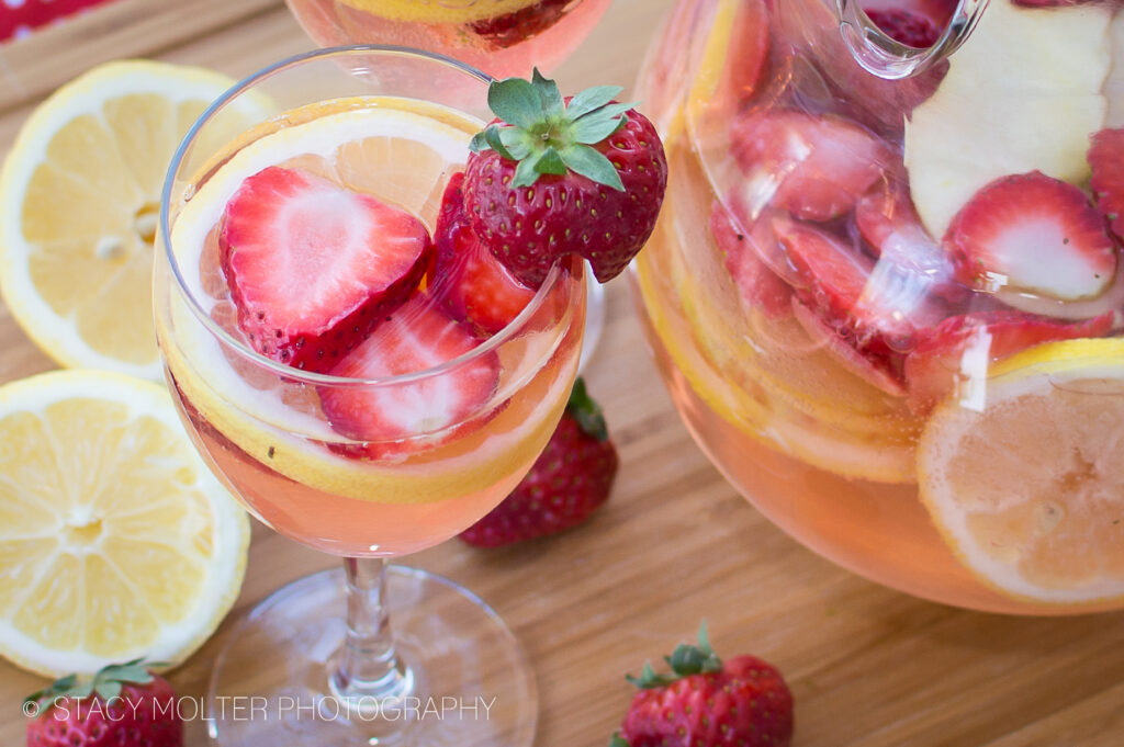 White Wine Strawberry Lemonade Sangria