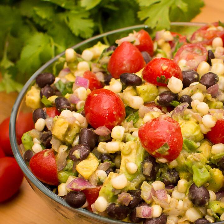 Mexican Corn Avocado Tomato Salad Recipe